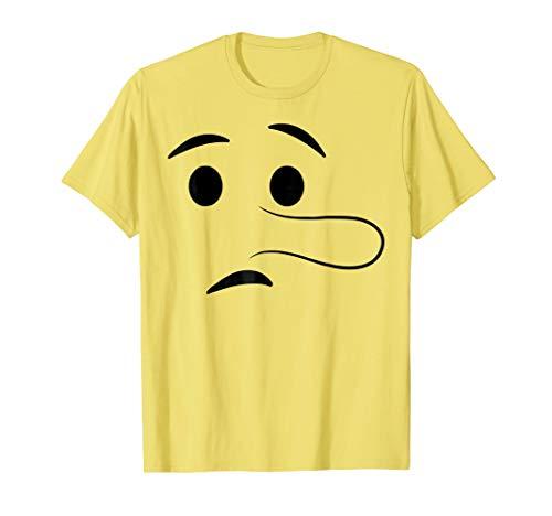 Halloween Emoji Costume Shirt Long Nose Lying Face Liar -