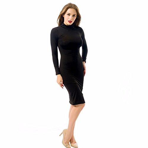 Qiyun ZF10S1503 - Vestido para mujer Negro