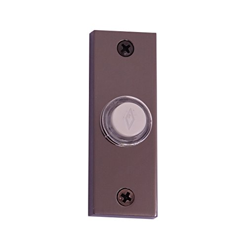 Doorbell Chrome (Atticus Electronics Wired Push Button (3312BC) for Doorbells in Black Chrome Finish)