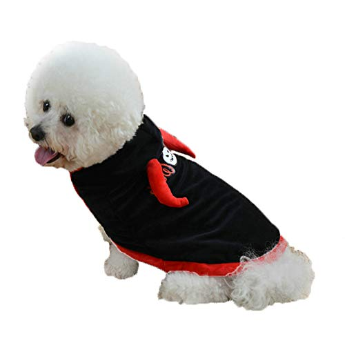 helegeSONG Fashion Cute Pet Dog Puppy Cape Halloween Style Costume Apparel Autumn Outfit Clothes - S -