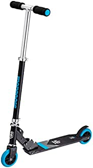 Mongoose Trace Foldable Kick Scooter Series, Featuring Quick-Release Adjustable Height Handlebars and Kickstan