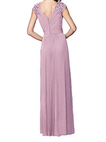Pink Charmant Kleider Spitze Lila Meerjungfrau Abendkleider Langes Abschlussballkleider Damen Promkleider rr6q8w5T