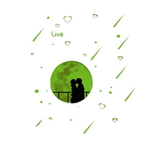 TOYANDONA Meteorito Luminoso Lluvia Etiqueta de la Pared Cartel romántico DIY extraíble para el Dormitorio