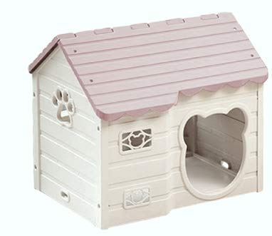 Alpha Dog Series Medium-Sized Indoor Plastic Doghouse (Pink)
