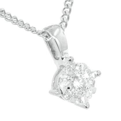 Or blanc brillant groupe 0,13 CT-Diamant