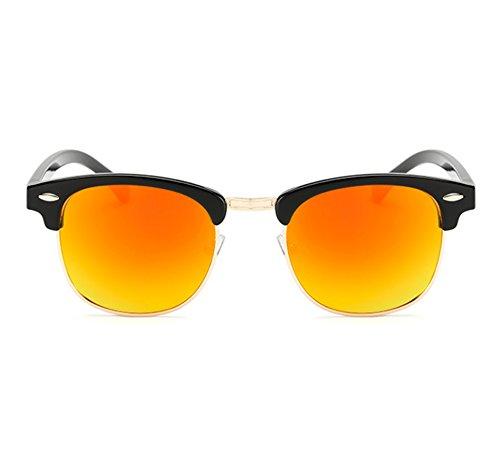 de Noir la conduit lunettes demi par conduite éblouissante vue anti classique polarisée Ouge voyage demi classique Hellomiko trame wz8Wa6qq