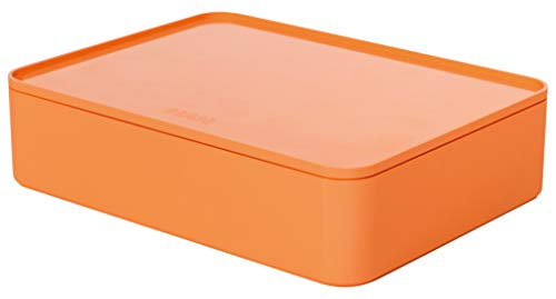 Han 1110-81 Smart Organiser Allison Practical Stackable Utensil Box with Inner Bowl and Lid Apricot ()