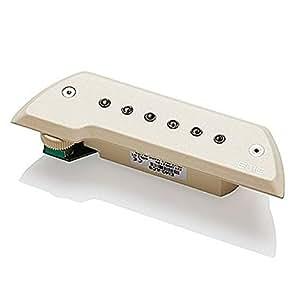 EMG ACS Ivory Acoustic Sound Hole Pickup Ivory Active Chrome Poles w/Bonus RIS Pick (x1) 654330500701