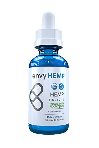 Envy Hemp Focus with Nootropics – 250 mg Hemp Oil for Concentration and Memory Support – Alpha-GPC, Rhodiola Rosea – Organic Naturally Grown Vegan Hemp Isolate – USA Grown – for Daily Use (60mL) Review