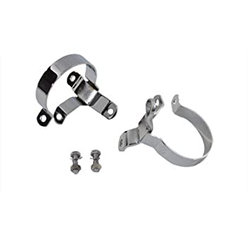 Chrome 3-1//4  Muffler Body and End Clamp Set,for Harley Davidson,by V-Twin