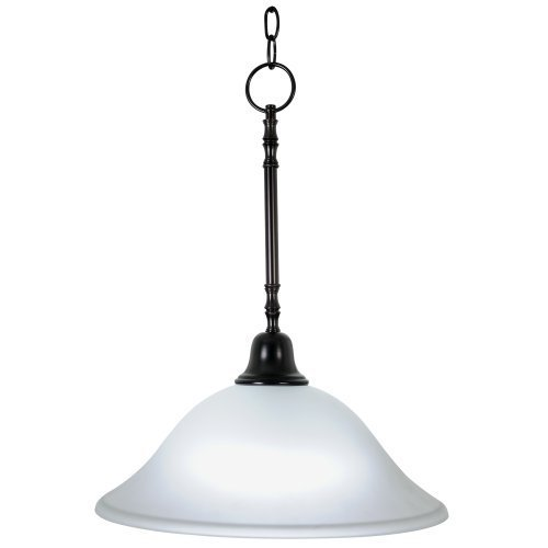 AF Lighting 617238 15-Inch W by 20-Inch H Sonoma Decorative Vanity Fixtures 1 Light Pendant Downlight, Oil Rubbed Bronze by AF Lighting
