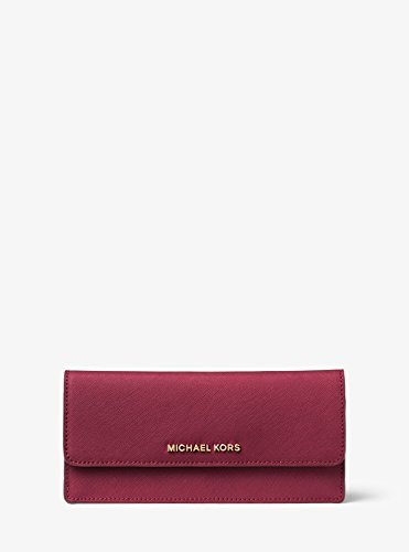 92cbc5ee123f MICHAEL Michael Kors Jet Set Travel Slim Saffiano Leather Wallet, Color  Mulberry by Michael Kors
