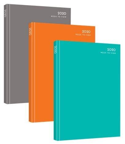 Agenda de 2020, tapa dura, vista semanal, A4, varios colores ...