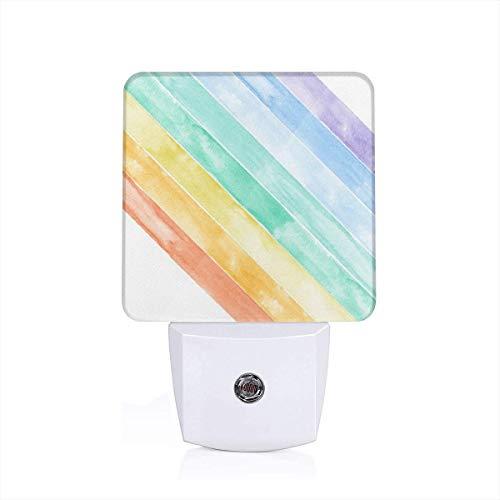 Nightlights for Adults Yard Panel Minky Watercolor Rainbow - Wholecloth 1 Yard Cut (54)_488 Auto Sensor LED Dusk to Dawn Night Light Plug in Indoor for Adults ()