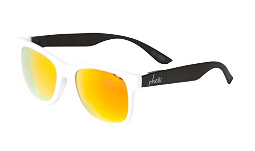 UV400 Sunglasses - White Frames, Black - Bans Cheap Wayfarer Ray