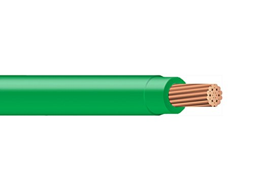 100FT of THHN1/0GN THHN 1/0 AWG Building Wire, Stranded Type, Green (100FT Reel) by Gallant & Wein