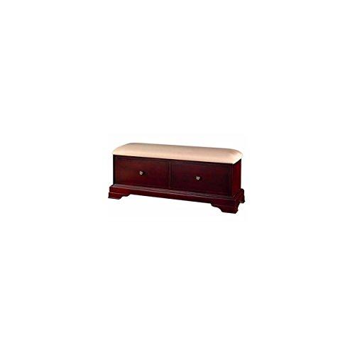 2 Drawer Cherry Bench - Valdivia Louie Phillipe 2 Drawer Bench in Cherry