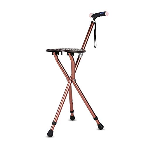 Walker, Crutches Chair Old Folding Aluminum Walker, Older Anti-Skid with Stool Handcuffs Walking Stick Assisted Walking (Color : B) by HN Walker