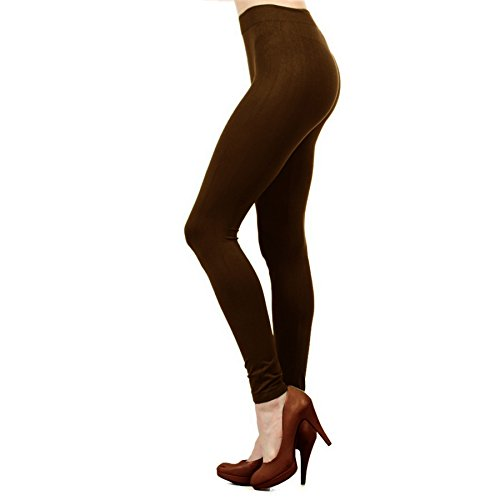 Ekimo T-USA Seamless Stretch Full Length Basic Leggings Halloween Costumes (Brown)]()