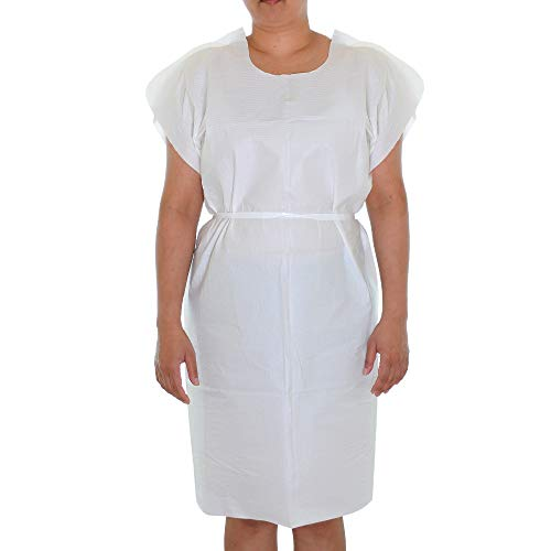 Dealmed Latex-Free Patient Exam Gowns, Tissue/Poly/Tissue 3-Ply, 30