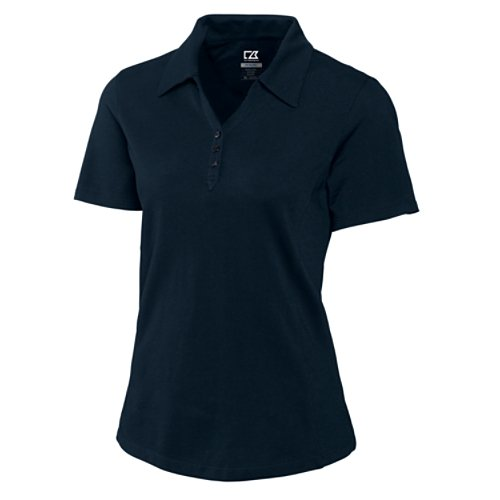 Cutter & Buck Women's DryTec Championship Polo Shirt, Navy Blue, Medium