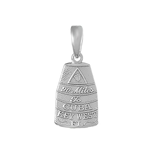 (925 Sterling Silver Travel Charm, Small Buoy Southern Most Point USA Key West,)