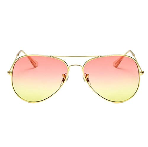 NEW Fashion Brand Aviator Sunglasses Women Clear Lens Female Sun Glasses Photochromic Male Glasses (Jessica Oval Mirror)