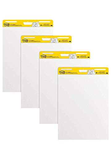 Post-it Super Sticky Easel Pad MRRG 25 x 30 Inches, 30 Sheets/Pad, 6 Pads, Large White Premium Self Stick Flip Chart Paper, Super Sticking Power by Post-it (Image #1)
