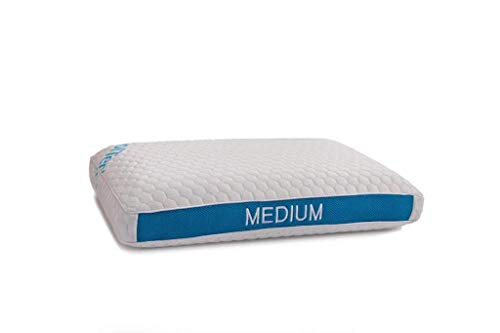 Gel Infused Memory Foam Pillow - Medium Profile - King Size