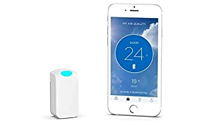 "Wynd Wearable Air Quality Tracker Bundled with A Free Kindle Book ""What's in Your Air?"" (White Matte)"