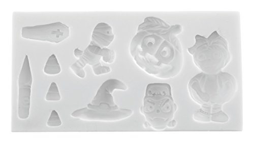 Silikomart Wonder Cakes 71.005.87.0096 SLK 1005 White Halloween Silicone Mould for 4 x 12 x 25.5 cm -