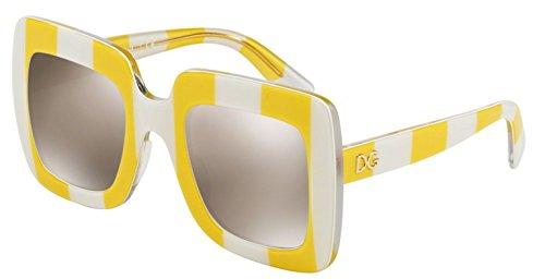DOLCE & GABBANA Sunglasses DG 4263 30255A Stripe Yellow/White - Sun Glasses Gabbana Dolce
