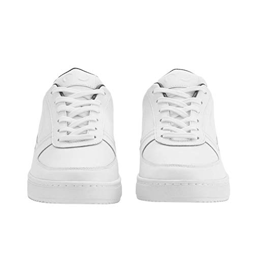ROOY DEKADE White Leather Low Top Fashion Sneakers for Unisex