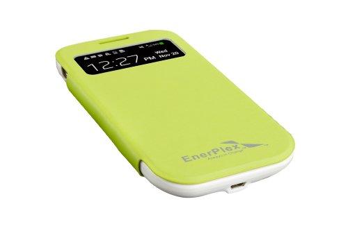 EnerPlex Surfr Ultra Slim Battery Backup & Solar Powered Case for Samsung Galaxy S4, Green, SFG-2500-GR
