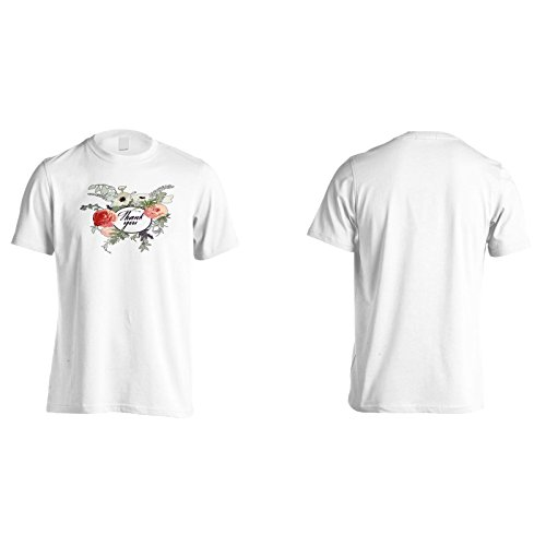 Neue Danke Blumenmuster Herren T-Shirt m330m
