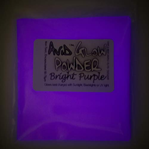 Glow Powder; Fluorescent Purple in Daylight and Dark Violet Glow in Dark; 1oz (30g); Glow in The Dark Pigment Powder for Resin, Slime, Nail Polish, Paints, Coatings, Acrylic Powder