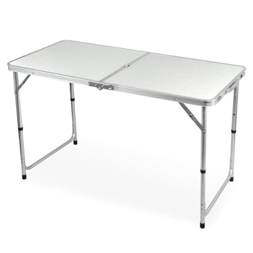 Yaheetech 4 Foot Aluminium Folding Portable Camping Picnic Party Dining Table (White)