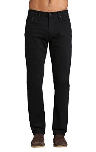 Mavi Men's Matt Classic Mid-Rise Relaxed Straight-Leg Jeans, Black Williamsburg, 31W X 32L
