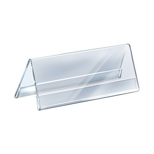 Count of 10 Clear Acrylic Two-Sided Nameplate (11'' W x 4.25'' H)