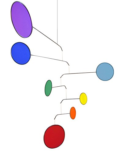 """Chakra Rainbow Modern-Style Indoor Mobile, 26"""" x 42"""", American Made"""