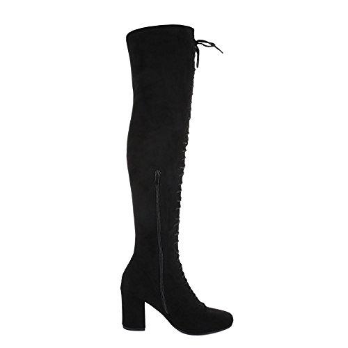 Mujer botas Design negro Ital clásicas txR6HfnnTq