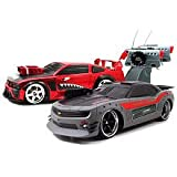 Battle Machines Radio Control Laser Tag 2-Pack - Chevy Camaro vs. Ford Mustang with Shark Design