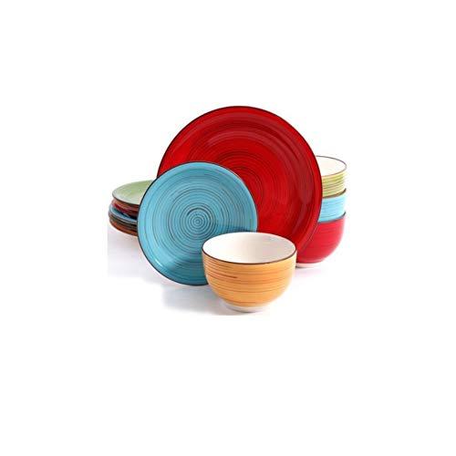 Better Homes and Gardens Festival 12-Piece Dinnerware Set, Assorted, Dishwasher Safe (Better Homes Gardens Dinnerware)