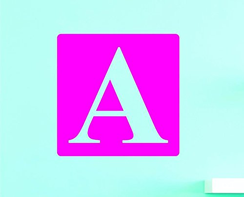 Design with Vinyl US V JER 2993 1 Top Selling Decals Alphabet Letter A Wall Art Size X 12 Inches Color 12 x 12 Multi