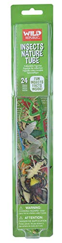 Wild Republic Insect Nature Tube, Kids Gifts, Educational Toys for Kids, Crawler, Insect Toy 24-Piece -
