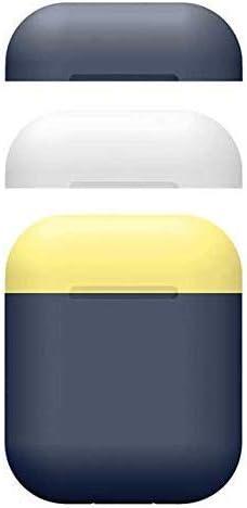 ZON Estuche Airpods, Estuche de Piel de Silicona con Estuche Apple Airpods 2/1 Candy Color Charging. [3 Tapas y 1 Cuerpo] (Azul Marino): Amazon.es: Deportes y aire libre