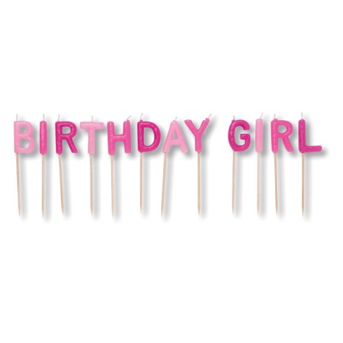 - Creative Converting Birthday Girl Pick Letters Candle Set