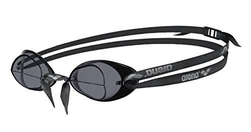 Arena Swedix Race Swim Goggle - Anteojos de natación con lentes espejadas Smoke/Blk Una talla