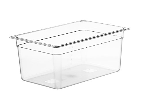 LIPAVI Sous Vide Container - Model C15 - 18 Quarts - 17.6 x 11.4 Inch - Strong & Clear See-through Polycarbonate - Matching L15 Rack and Tailored Lids for virtually every circulator sold separately.