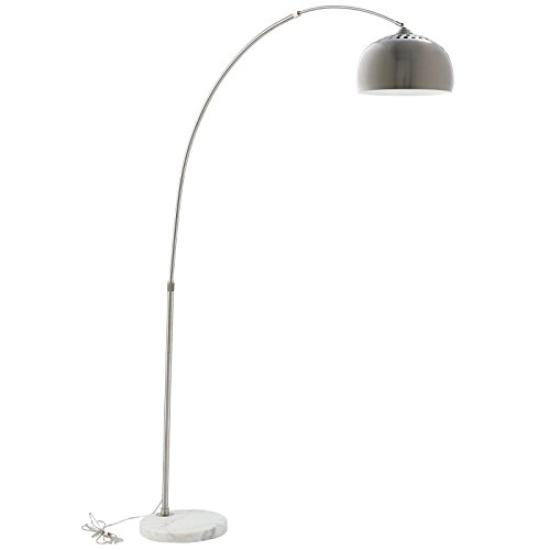 - Modway Arco Style Lamp with White Round Marble Base